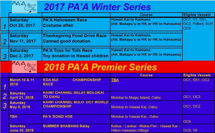 Calendar Pa A Paddling Athletes Association